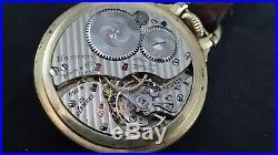 Antique 16s Hamilton 992B Rail Road pocket watch 1941 Wadsworth case 10K GF &Fob