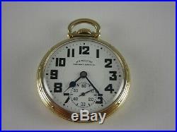 Antique 16s Hamilton 992B Rail Road pocket watch. 1944. Gold filled Hamilton case