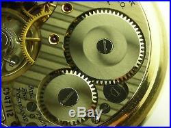 Antique 16s Hamilton 992B Rail Road pocket watch. Made 1951, Wadsworth case