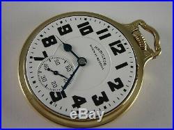 Antique 16s Hamilton 992B Rail Road pocket watch. Wadsworth case. Made 1940