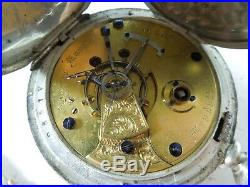 Antique 1800s Rockford Watch Co. Pocket Watch Coin Silver Case FAHYS COIN