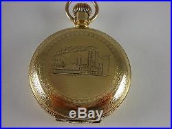 Antique 18s Aurora pocket watch 1887/8. Magnificent 14k gold filled Hunter case
