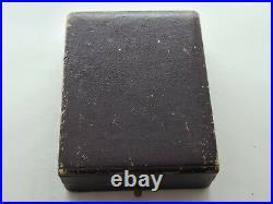 Antique 1900 Swiss Small Solid Silver Pocket Watch Original Case Key VGC Rare