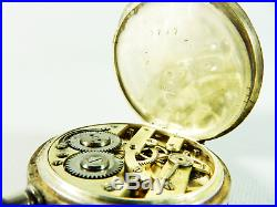 Antique 1903 Sterling Silver 935 Swiss Ladies Pocket Fob Watch Repousse Case