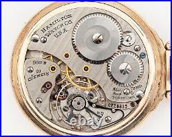 Antique 1948 Hamilton 16s 21j Adj. 992B Pocket Watch with Hamilton Case! Running