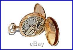 Antique ANCRE Spiral Breguet Chaton Pocket Watch set 18K Yellow Gold Case (Val)