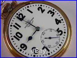 Antique Ball Official Rail Road Standard 999P 21j pocket watch 1930. Nice case