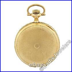 Antique Elgin Pocket Watch 15j 6s Grade 295 Etched 14K Yellow Gold Hunter Case