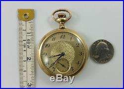 Antique Hamilton Model 2 Gold Filled Illinois Case Pocket Watch with Wood Box