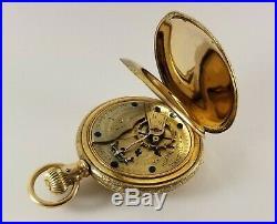 Antique Hampden Gold Fill Pocket Watch S/N 988531 Ca. 1896 18 Size Hunter Case