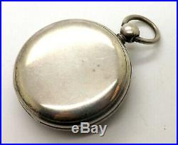 Antique Lever Fusee Silver Consular Case Pocket Watch By Wm. Dennet, Liverpool