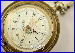 Antique Ottoman Empire Pocket watch WORKING serviced with original beads case