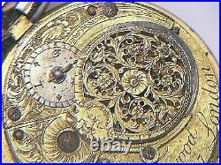 Antique Pair Cased Verge Pocket Watch Silver Georgian Fleetwood