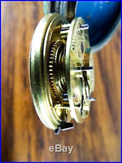 Antique Silver Cloisonne Enamel Cased Pocket Watch Abraham Sreadrea Verge Fusee