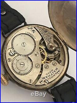 Antique Silver WW1 Waltham Trench Watch Dennison Case