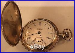 Antique Waltham 18s 17j Pw Ls Gold Filled Ornate Hunter Case Pocket Watch