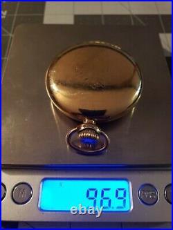 Antique Waltham 23 Jewel Rail Road Grade Vanguard Pocket Watch Serviced gf case