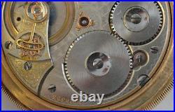 Antique Waltham Pocket Watch 14K Gold with Hunter Case 1892 Vanguard Railroad
