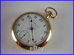 Antique original 18s Elgin Father Time Rail Road pocket watch 1900. Lovely case