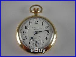 Antique unusual 21j Illinois Gr. 89 Rail Road pocket watch 1913. Beautiful case