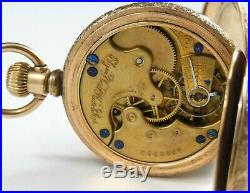 Beautiful Elgin 6s 117 7j Watch with Champion Gold Color Hunter Case Runs