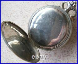 Bristol Chronograph Rattrapante Pocket Watch Nickel Chromiun case 53,5 mm