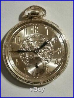 Bulova ART DECO 12 size 17 jewels fancy dial (1920'S) 14K. Gold filled case