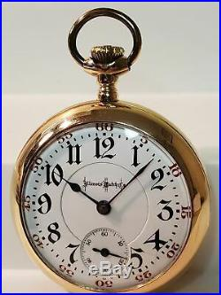 Bunn Illinois model 6, 18s, 19j 20yr GF case pocket watch