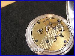 CIVIL War 1864 American Watch Co. P. S. Bartlett 3 Oz. Coin Silver Hunting Case