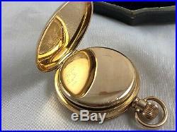 Cased Gentleman's Waltham Mass Full Hunter Pocket Watch