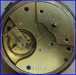 Center Seconds Chronograph open face gold filled case 56,5 mm. In diameter