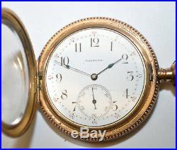 Circa 1896 Waltham 12s Demi-Hunter GP Case Riverside 17j Model1894 Pocket Watch