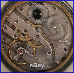 Digital Type Rare Old Pocket Watch Gun Case Open Face 52 mm. In diameter