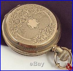 ELGIN 1876 WILD WEST PERIOD TOMBSTONE WYATT EARP Period 18k GOLD Case