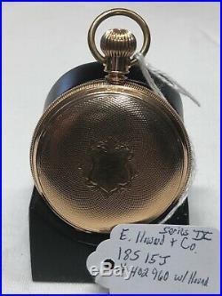 E. HOWARD SERIES IX POCKET WATCH 14K GOLD CASE-ABOUT $1400 GOLD @ $1500 an Oz