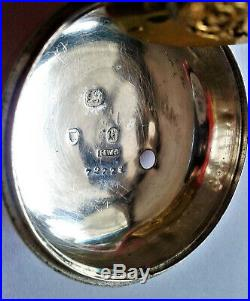 Early Victorian silver pair cased verge pocket watch c1843. Parts/repair