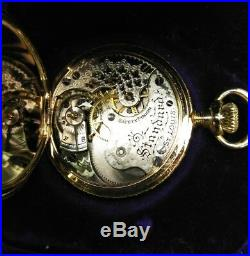 Elgin 0S. MERMOD, JACCARD & Co. 15 jewels mint 14 K solid gold case restored