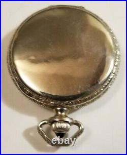 Elgin 12S. 15J. Fancy multi-color dial Sapphire crown (1927) spartan case