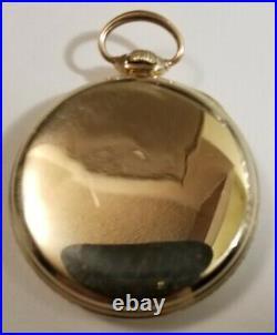 Elgin 12S. 15J. Fancy silver dial grade 315 (1924) 10K. G. F. Case
