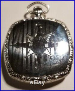 Elgin 12 size 17 jewel Fancy dial Art Deco grade 345 (1922) 14K. G. F. Case