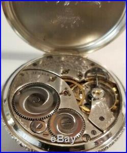 Elgin 12 size 17 jewel Fancy dial Art Deco grade 345 (1925) 14K. W. G. F. Case