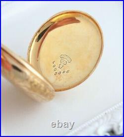 Elgin 14K Gold 7 Jewel Pocket Watch 1906 Model 2 Full Hunter 0s Case Antique