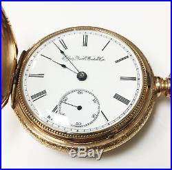 Elgin 14K Gold Hunter Case Vintage Pocket Watch 15 Jewel Grade 103 Size 18S