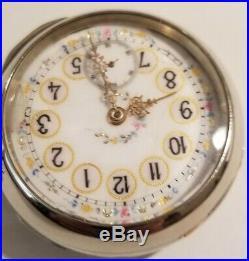 Elgin 15 jewels 18 size fancy dial (1898) grade 141 silverode case