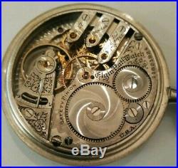 Elgin 16S. 17 Jewels adjusted 3 finger bridge fancy dial (1905) silverode case