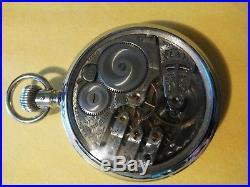 Elgin 16S. 17 jewel (1906) Masonic Dial 3 finger bridge salesman display case
