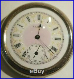 Elgin 16 size 15 Jewels 3 finger bridge great fancy dial (1902) nickel case
