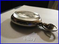 Elgin 16 size 15 jewel Masonic pocket watch (1902) nickel case thick glass cry