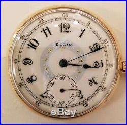 Elgin 16 size 17 Jewels grade 386 fancy dial (1915) 14K. Gold filled case