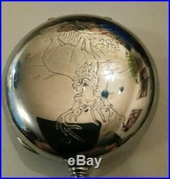 Elgin 18S. 17 Jewels adjusted great fancy dial (1904) grade 308 silveroid case